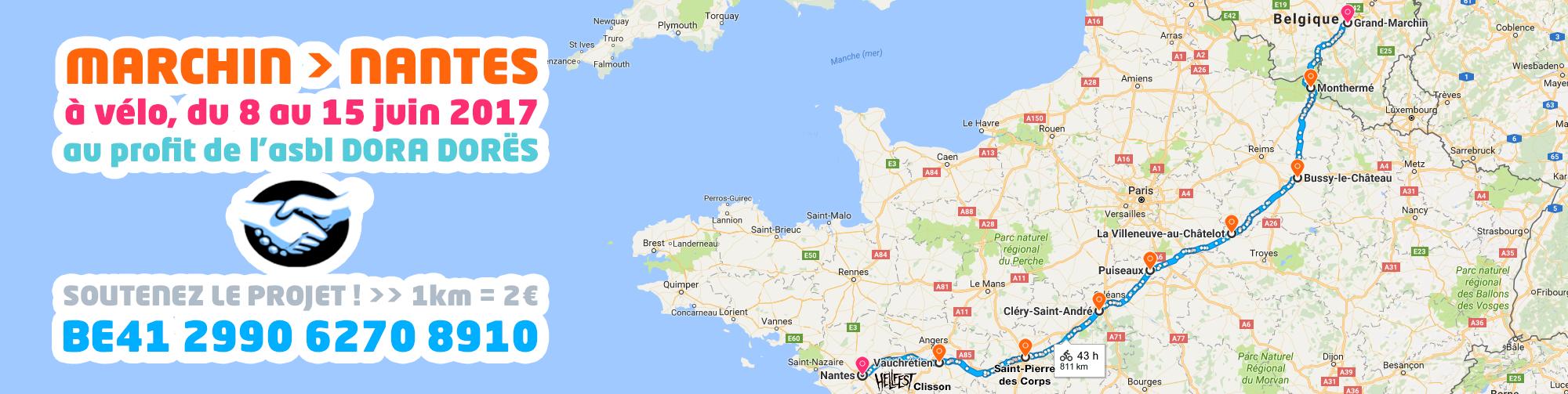 Marchin – Nantes à vélo
